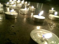 candles at funeral speech