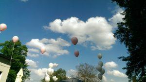 Luftballons bei der Hochzeit